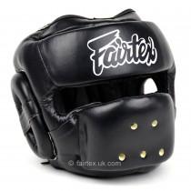 [預購]Fairtex-HG14-全臉防護頭盔-Black